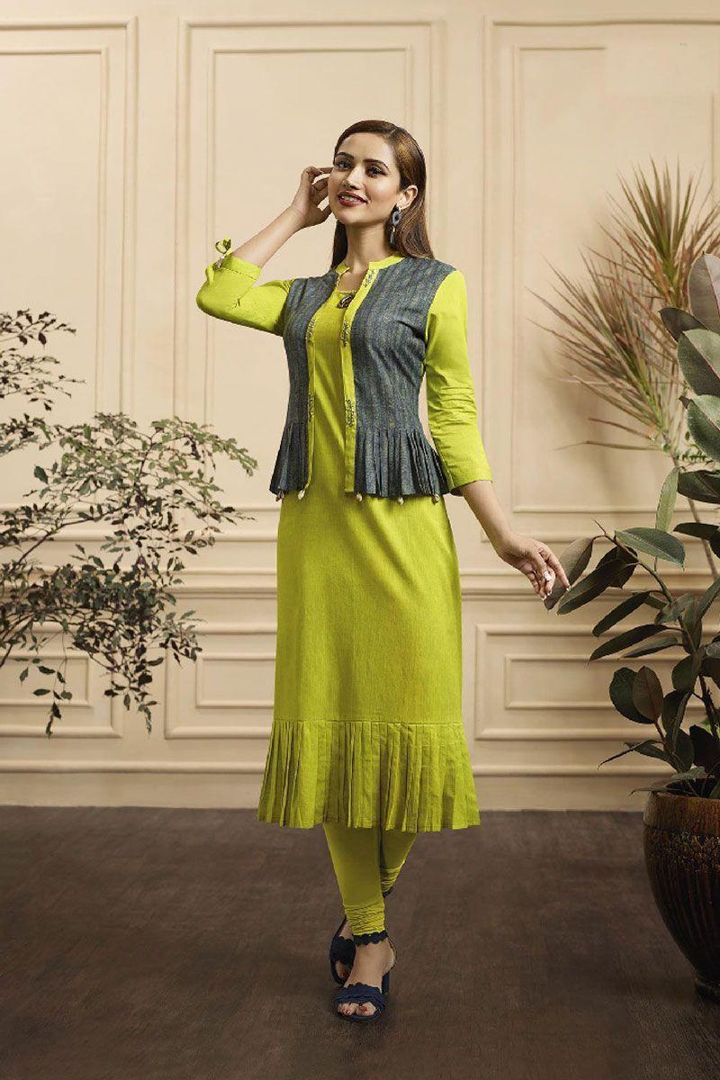 green trendy designer kurti
