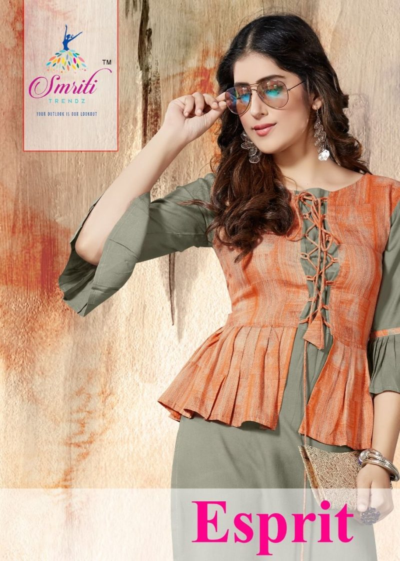 trendy kurti design with bell sleeve