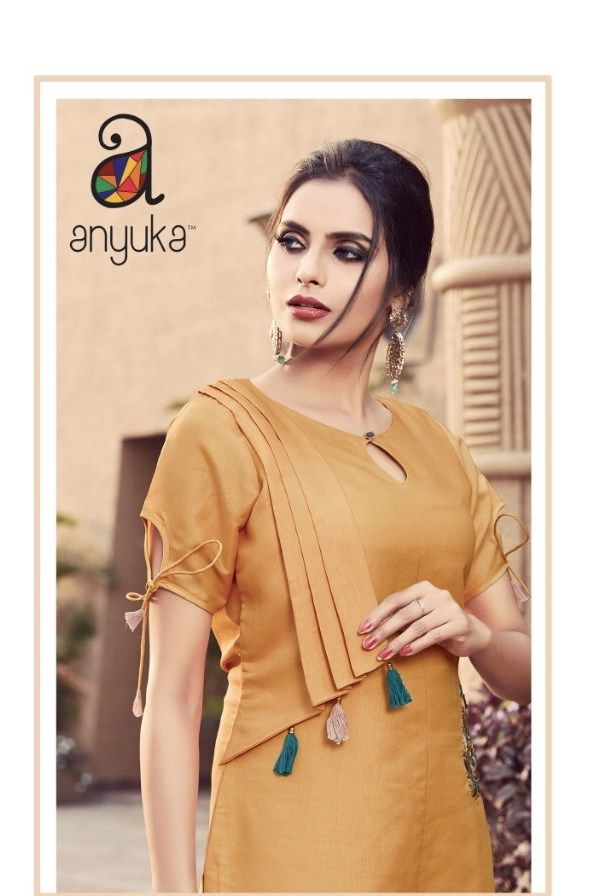 beautiful kurti design with front attachments