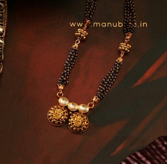 Elegant Black Beads Chain for Magalsuthra14