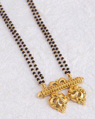 Elegant Black Beads Chain for Magalsuthra17
