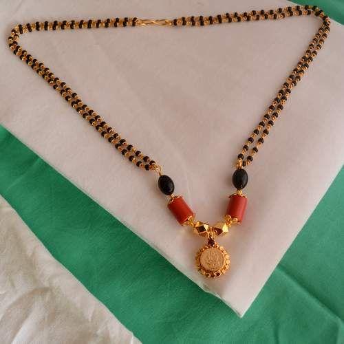 Elegant Black Beads Chain for Magalsuthra18