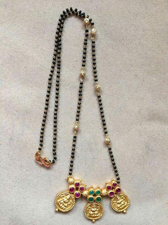 Elegant Black Beads Chain for Magalsuthra20