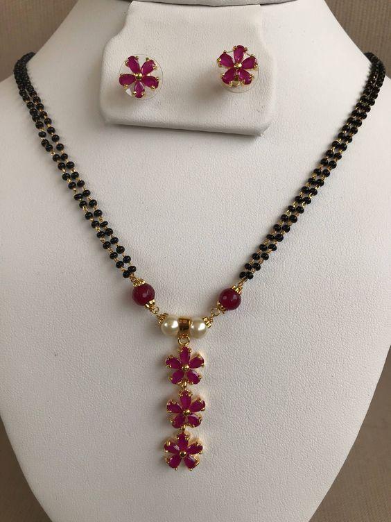 Elegant Black Beads Chain for Magalsuthra4