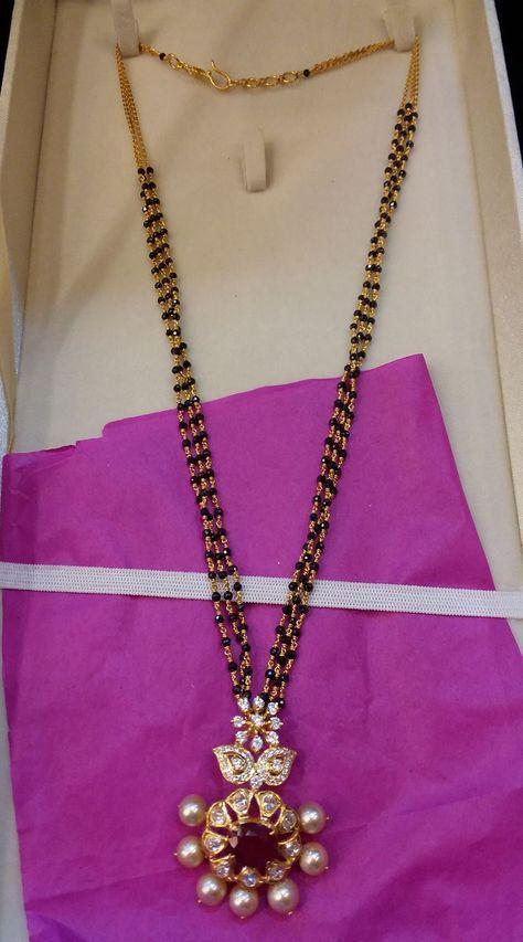 Elegant Black Beads Chain for Magalsuthra5
