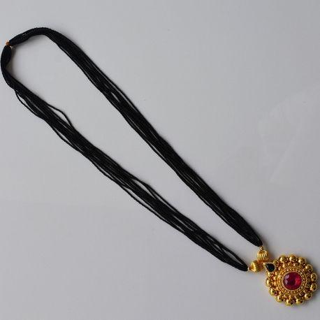 Elegant Black Beads Chain for Magalsuthra6