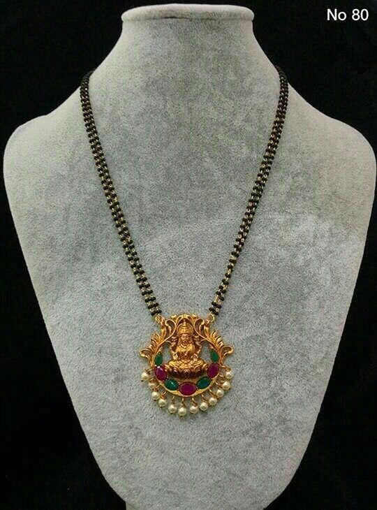 Elegant Black Beads Chain for Magalsuthra9