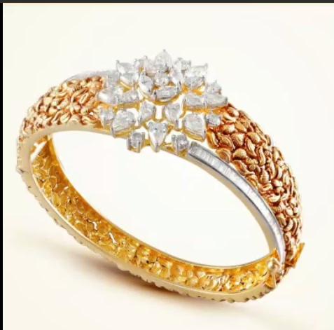 Gold Stone Bridal Bangle Designs18
