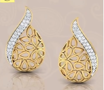 Gorgeous and Light Weight Gold Stud and Gold Earrings13