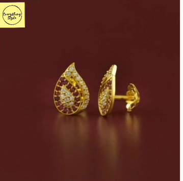 Gorgeous and Light Weight Gold Stud and Gold Earrings14