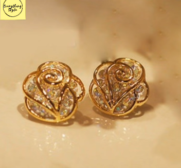 Gorgeous and Light Weight Gold Stud and Gold Earrings16