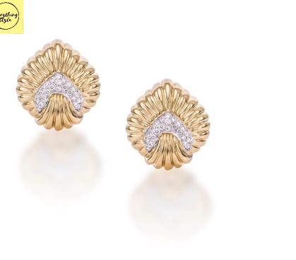 Gorgeous and Light Weight Gold Stud and Gold Earrings6