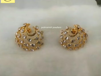Gorgeous and Light Weight Gold Stud and Gold Earrings9