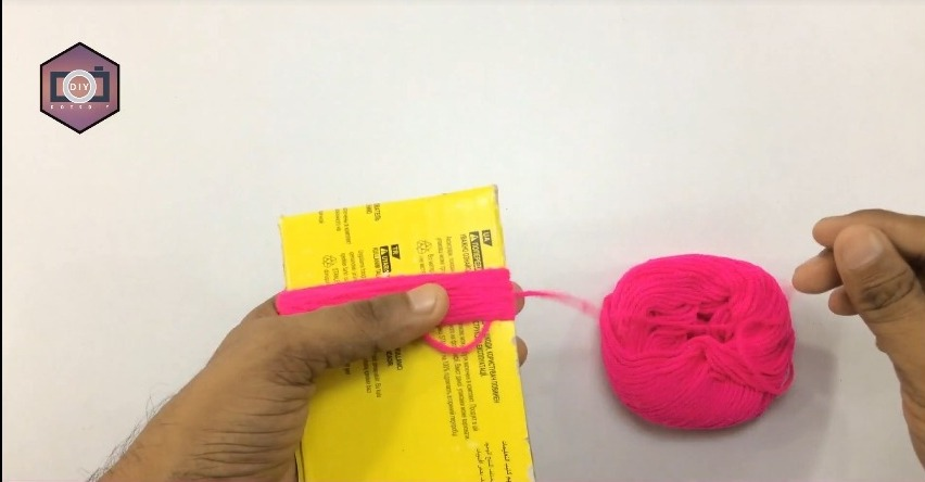 pink thread is used to make hanging