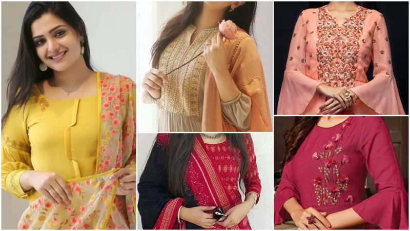 Kurti Neck Designs for a tylish Look