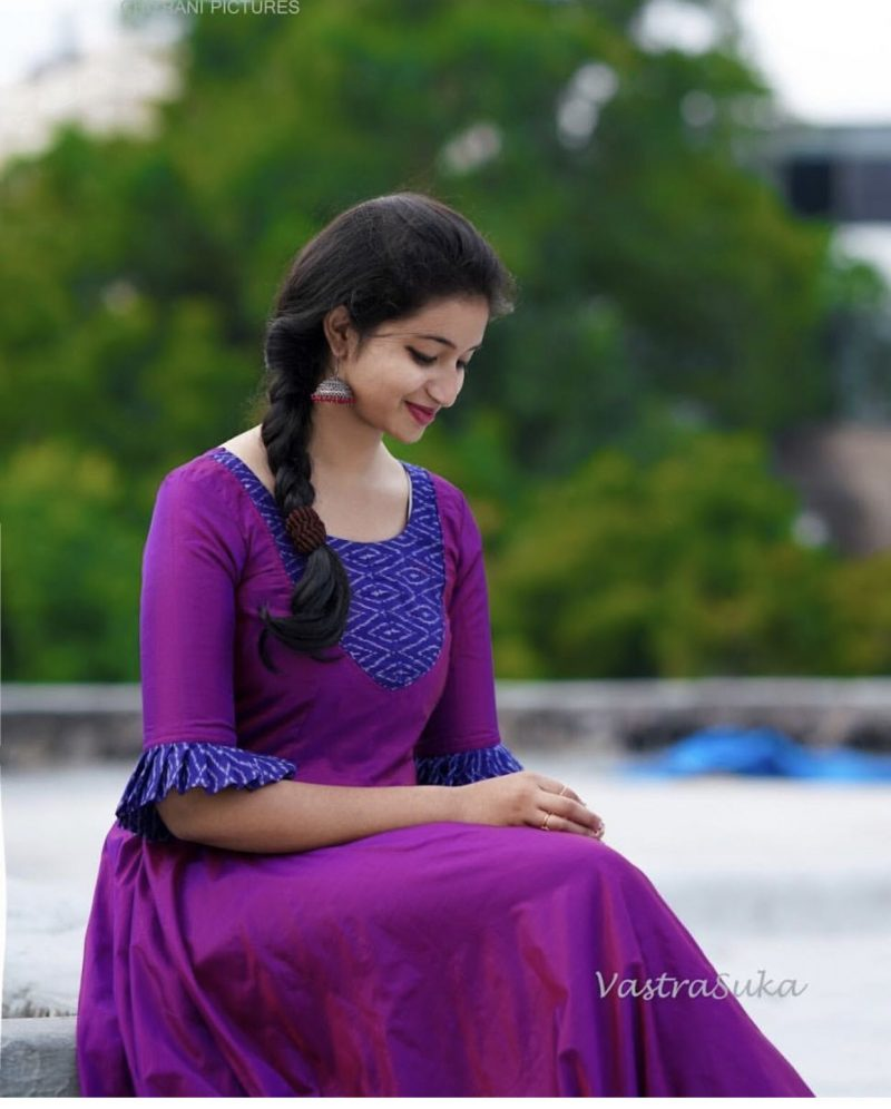 violet color kurti design