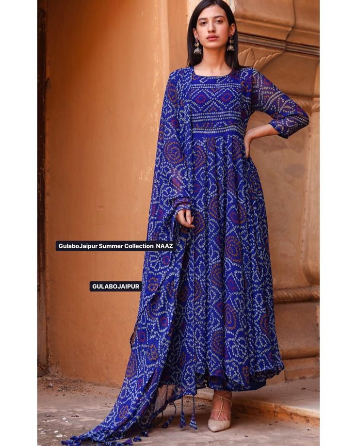 blue simple kurti design