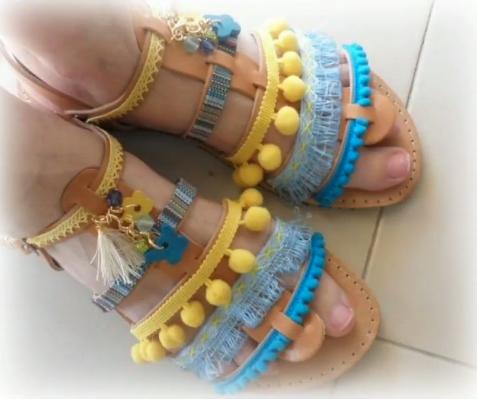 Latest Boho Sandals with Pompom16