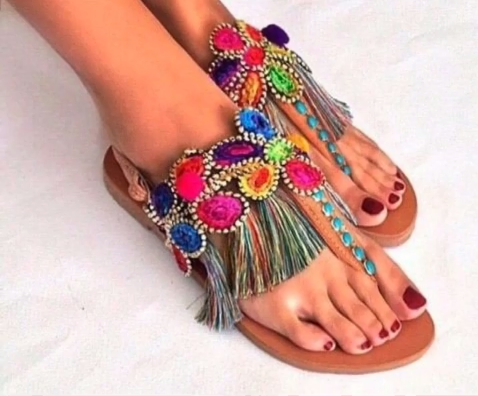 Latest Boho Sandals with Pompom22