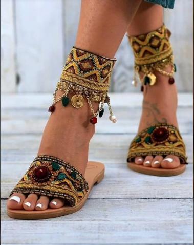 Latest Boho Sandals with Pompom25
