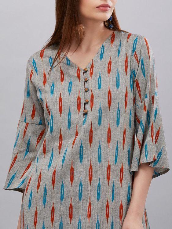 normal cotton kurti design