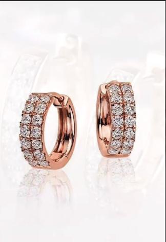 Classy Gold Hoop Earrings Designs12