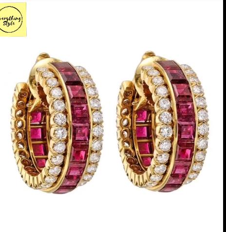 Classy Gold Hoop Earrings Designs5