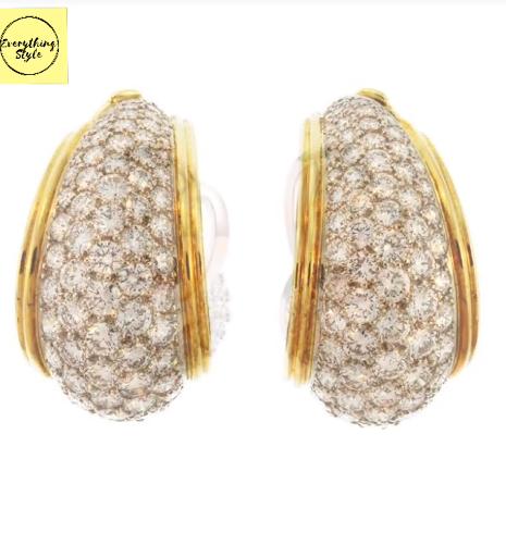 Classy Gold Hoop Earrings Designs7