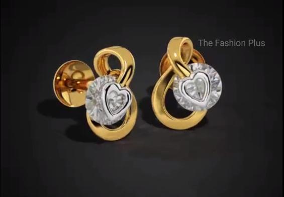 Light Weight Gold Ear Stud Designs1