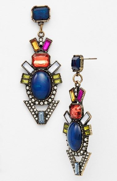 Multi-Coloured Diamond Earrings11