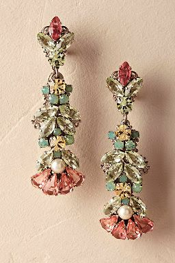 Multi-Coloured Diamond Earrings2
