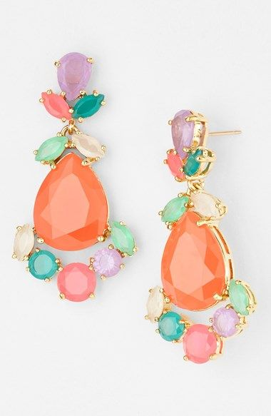 Multi-Coloured Diamond Earrings3