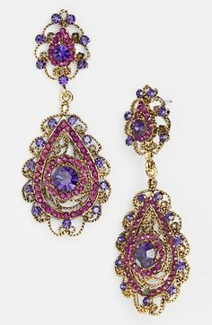 Multi-Coloured Diamond Earrings5