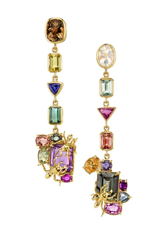 Multi-Coloured Diamond Earrings7