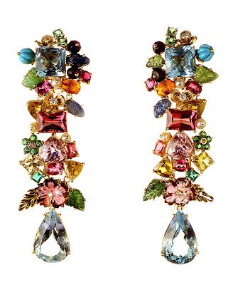 Multi-Coloured Diamond Earrings8