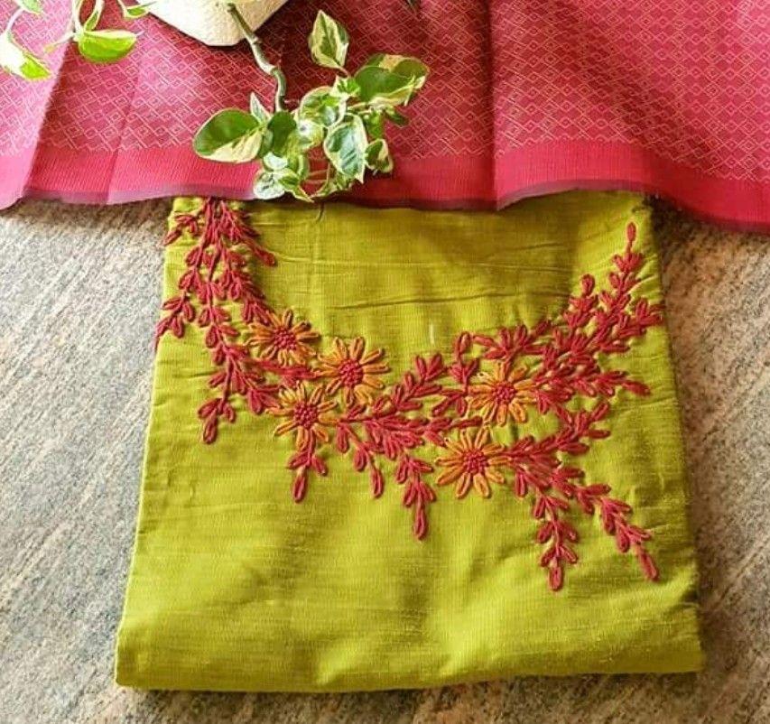 embroidery kurta design