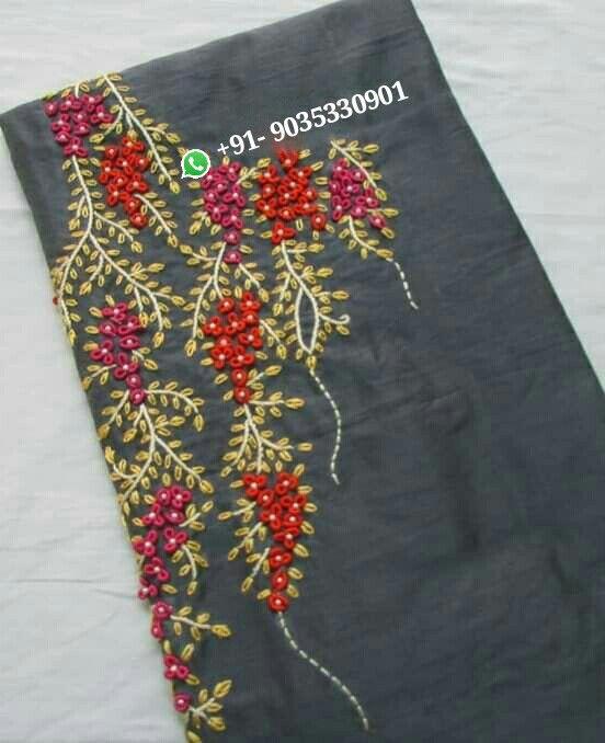 embroidery worked kurta