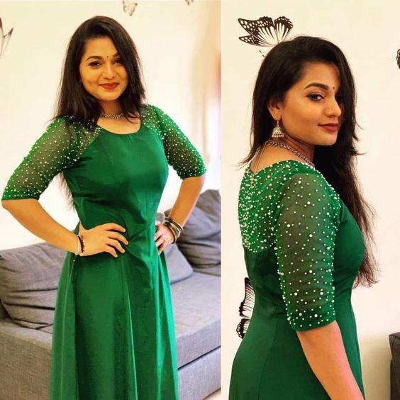beautiful green designer kurta