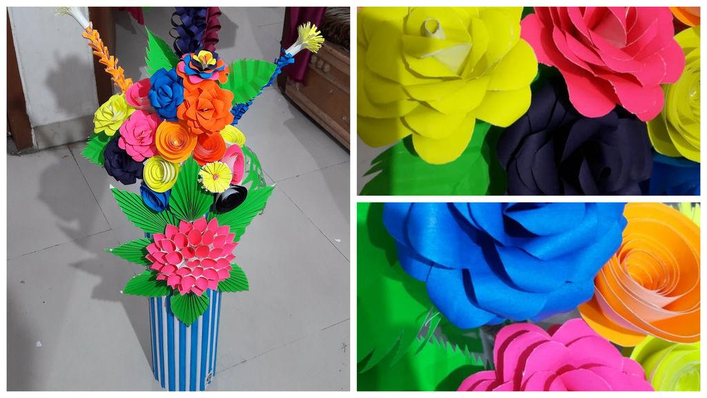 Paper flower vase1