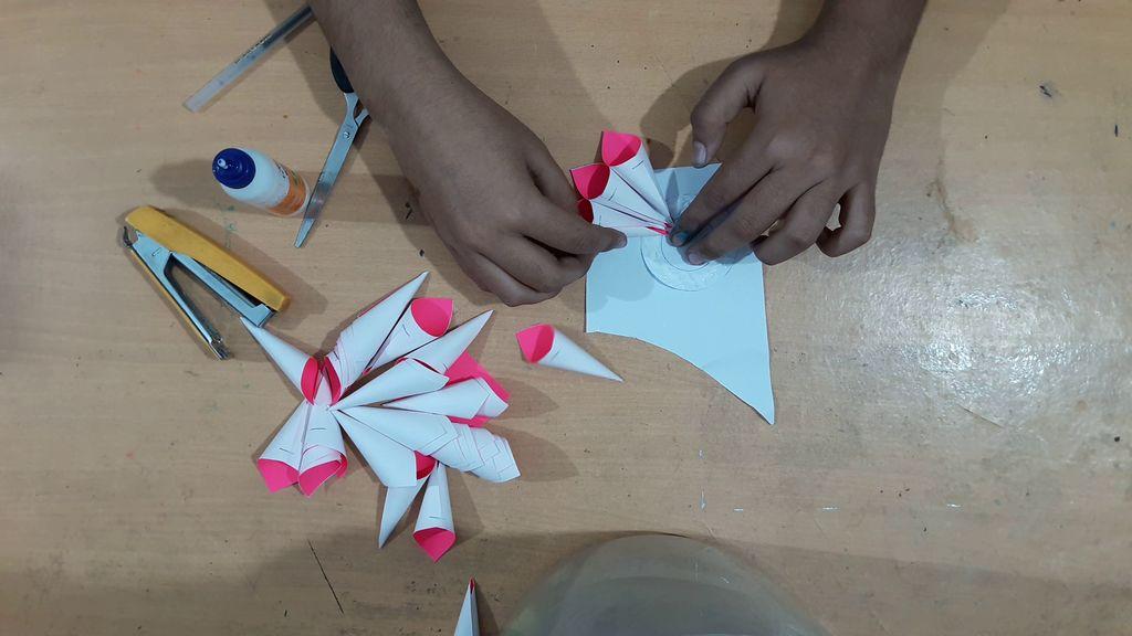 making flower petals