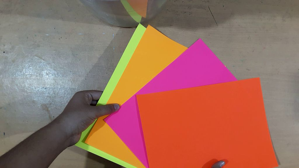 different color papers
