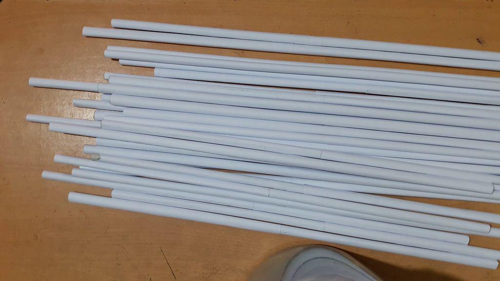 white paper sticks