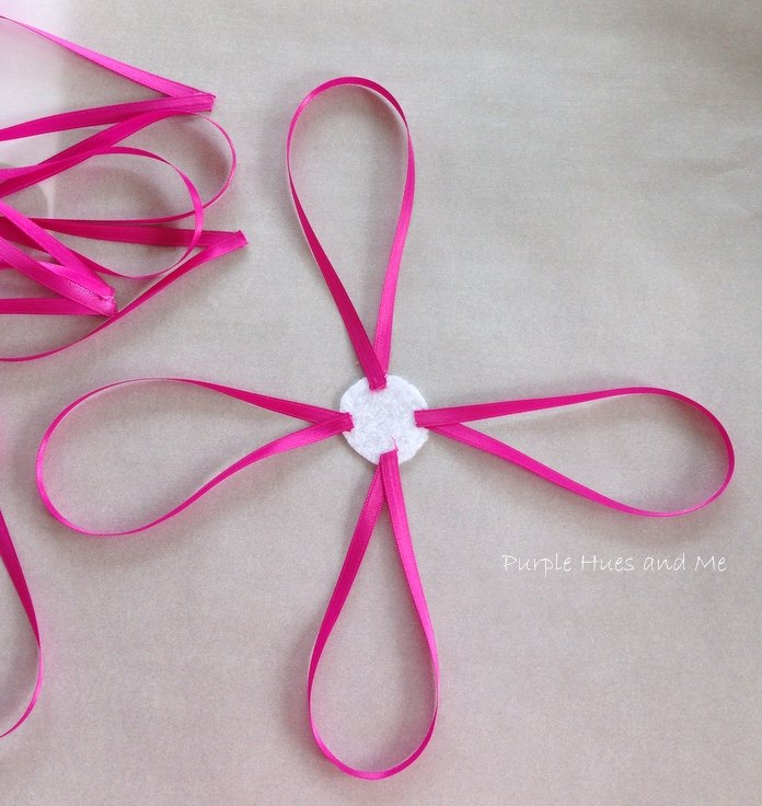 cut the pink satton ribbon