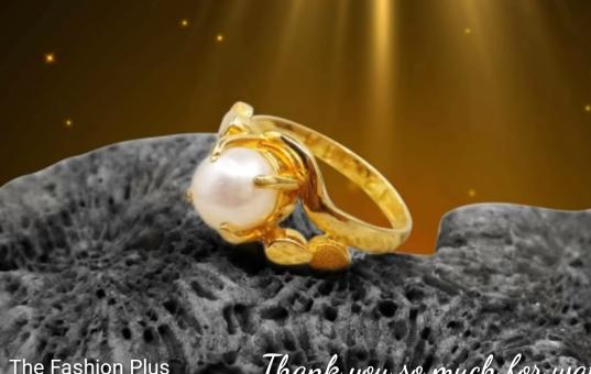 Sea Pearl Gold Ring Design11