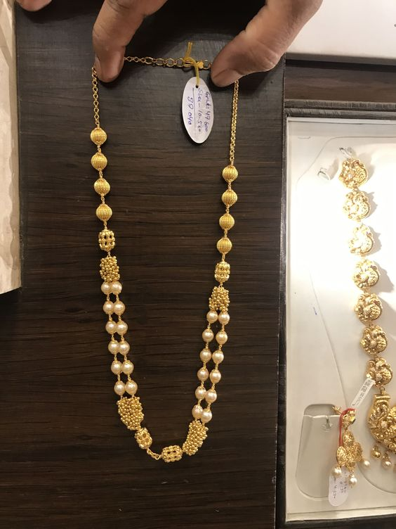 simple golden necklace3