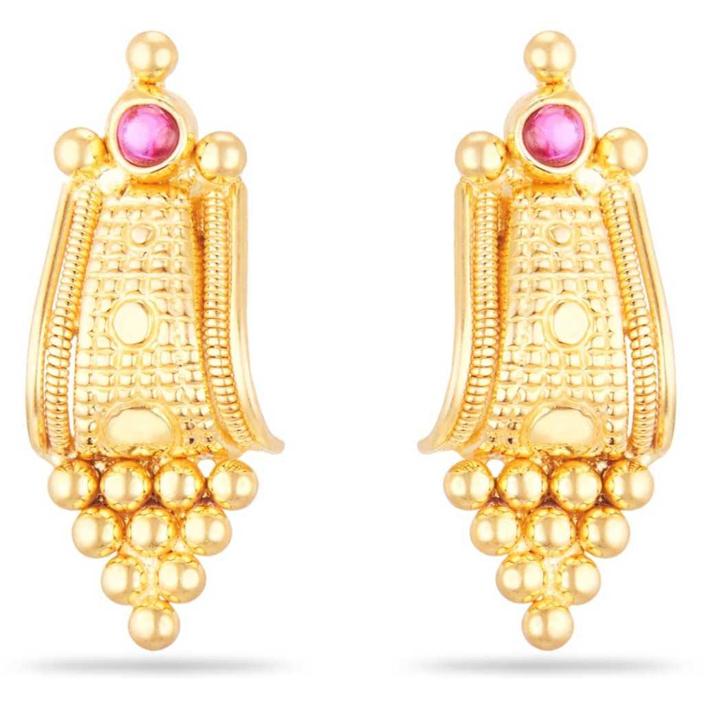 bead gold earring design
