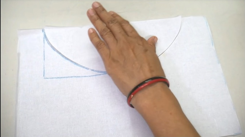cutting the neck portion
