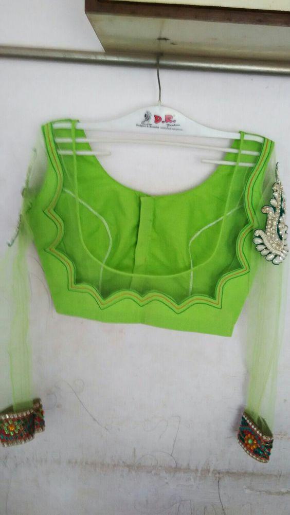 green back neck design