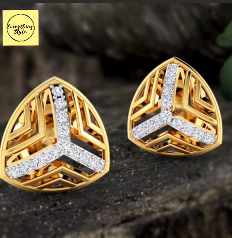 Beautiful Gold Stud and Earring Designs1