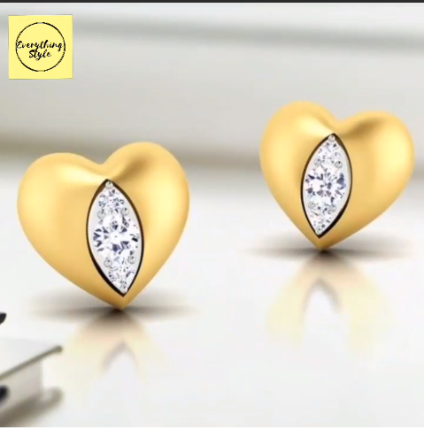 Beautiful Gold Stud and Earring Designs11